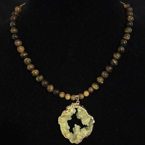 "16"" Druzy Necklace 16"" Druzy Necklace. Handmade. One of a kind. Jewelry Necklaces"