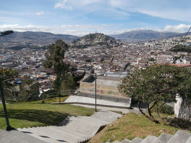 """Quito view of """"The Virgin"""""""