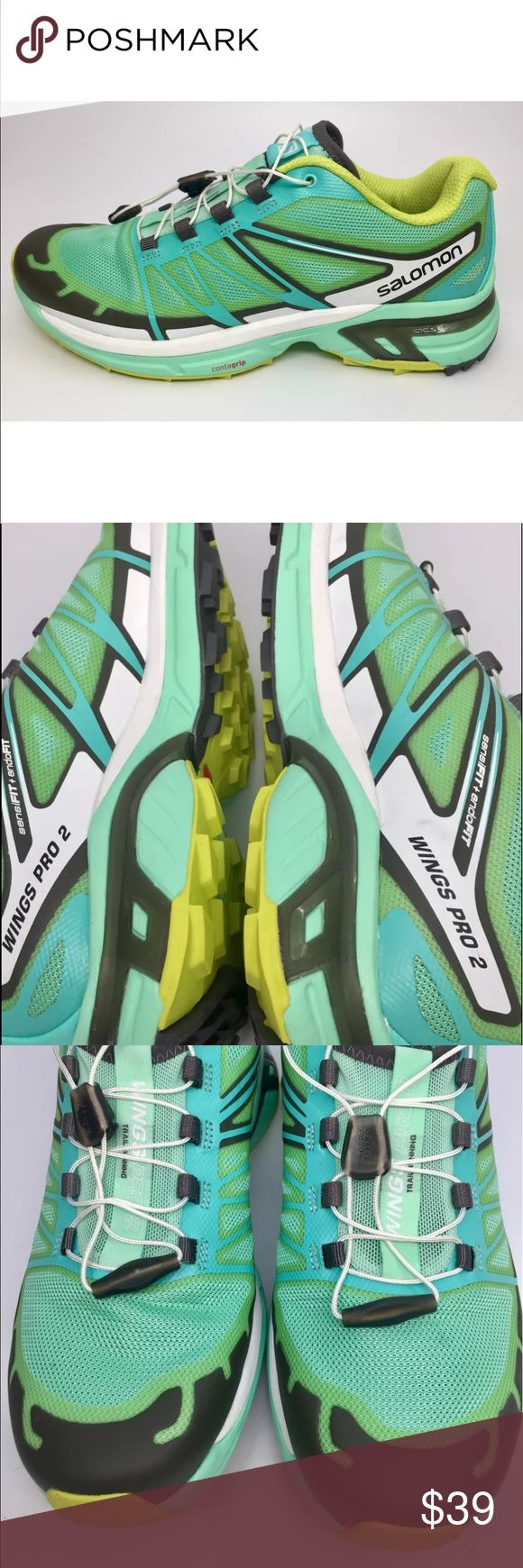 Salomon Wings Pro 2 Trail Running Shoes, size 8 Salomon Wings Pro 2 Trail Running Shoes   Women's size 8 US    Mint Condition. Worn twice Salomon Shoes Athletic Shoes
