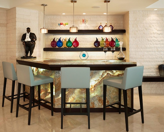 Awesome Home Bar with Marble top