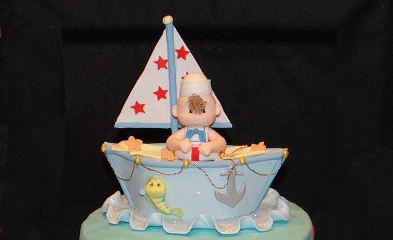 Nautica Baby doccia torta Ahoy Baby doccia di PartyFavorsMiami