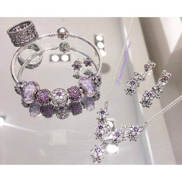 """The #new #Pandora Forget-Me-Not set is perfect for any occasion!<span class=""""emoji emoji1f49c""""></span> Pair it with the the Purple Shimmer ..."""