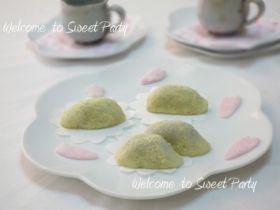 「うぐいす餅」クルリン   お菓子・パンのレシピや作り方【corecle*コレクル】