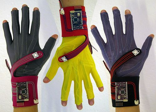 Data gloves - used to control your control by hand gestures!