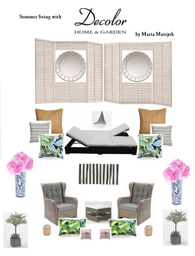 Inspiracje dla pięknego domu: kolaż z produktami ze sklepu Decolor.pl; autor: Marta Matejuk
