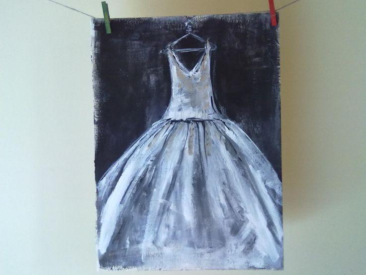 white-silver dress