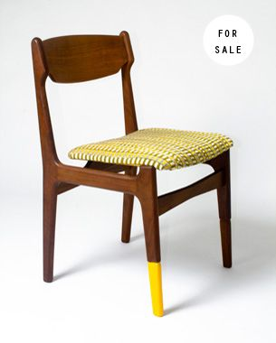 Oba by @yinksdesigns who up-cycles vintage furniture inspired by traditional Nigerian parables and African fabrics http://yinkailori.com/