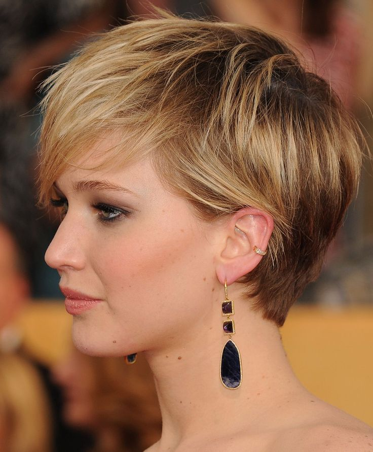 jennifer lawrence short hair photo                                                                                                                                                     More
