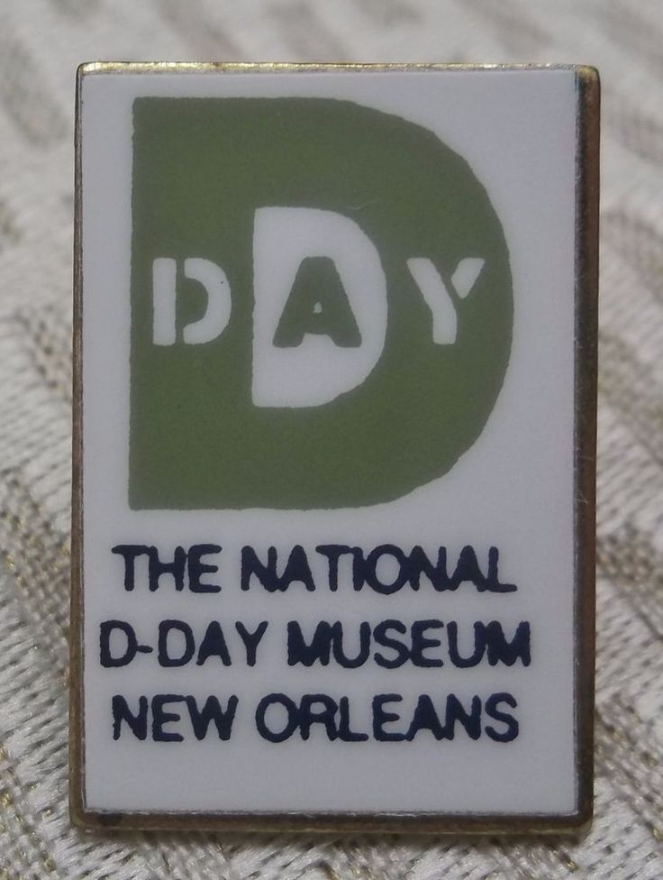 The National D Day Museum Lapel Pin New Orleans LA National WWII Museum Hat Pin