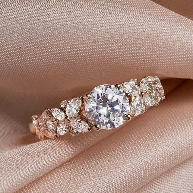 Diamond Engagement Ring Stop By Capri Jewelers Arizona To View The Entire Valentined Wedding Rings Engagement Rose Gold Engagement Ring Rose Gold Engagement