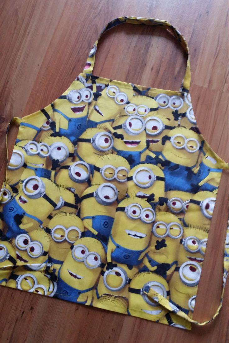 Minions Children's Apron, Kids apron, Boys apron, Gilrs Apron (6-11 year) by NessasCreationsAus on Etsy