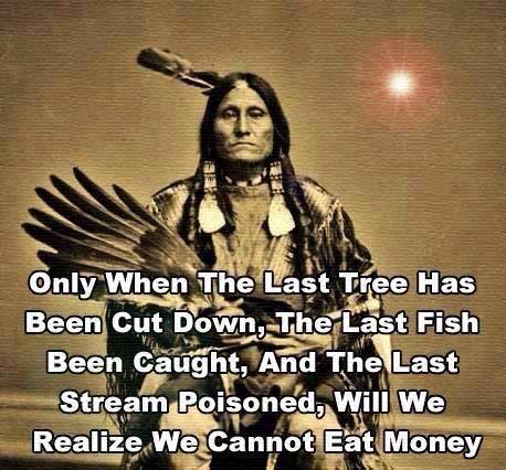We cannot eat money.