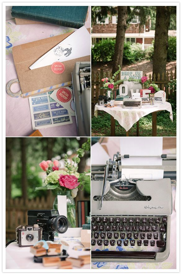 Need a creative and pretty way to decorate the guest book table