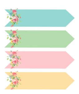 FREE printable Shabby Chic Arrows