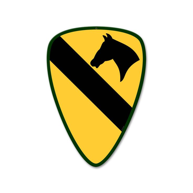 From the Altogether American licensed collection, this 1st Cavalry Division custom metal sign measures 14 inches by 19 inches and weighs in at 2 lb(s). This custom metal shape is hand made in the USA