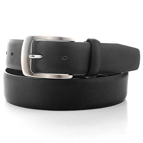 Buyreal Men's Leather Belt 1.3Inch