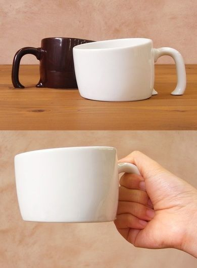 Cool mug. love the idea that it is sinking into the ground. The mug does its job as normal and looks good at the same time.