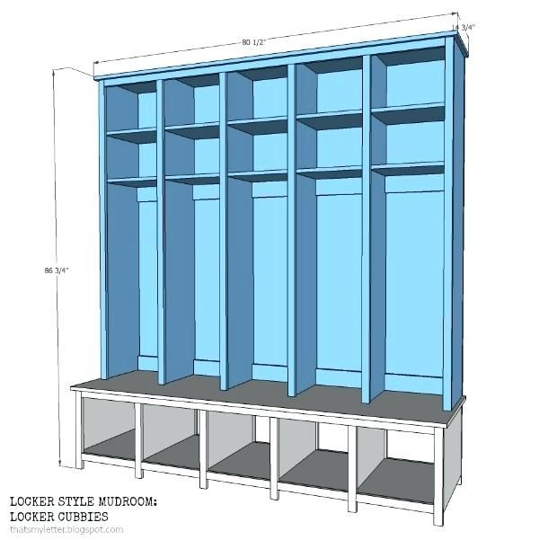 Mudroom Cabinet Plans Locker Style Mudroom Free Plans Mudroom Storage Design Plans Mudroom Lockers Lockers Mudroom