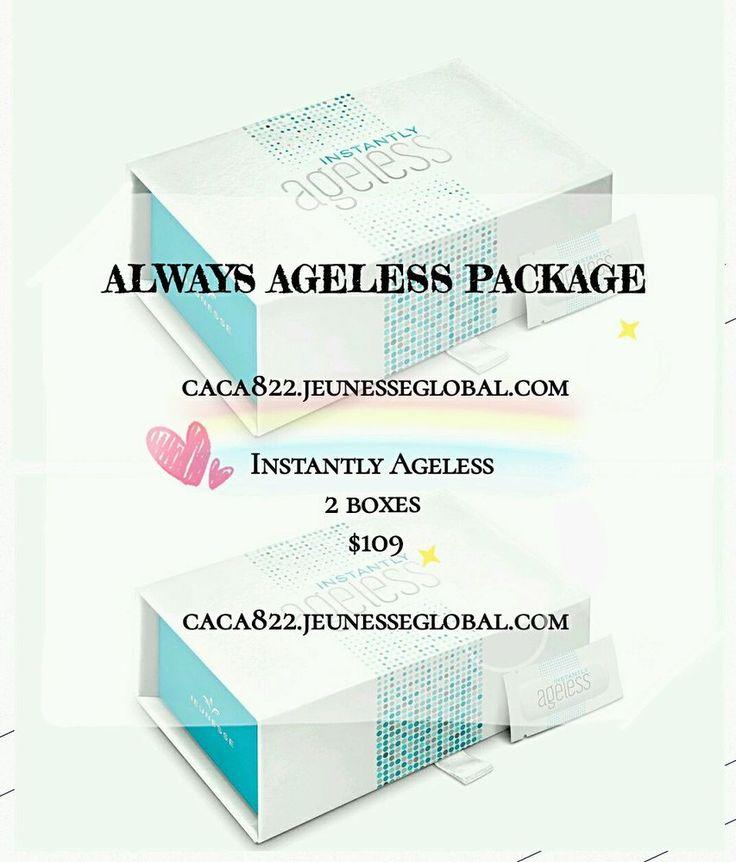 Jeunesse U.S. Instantly Ageless Brand New Sealed 100 sachets/2 boxes  #JEUNESSE