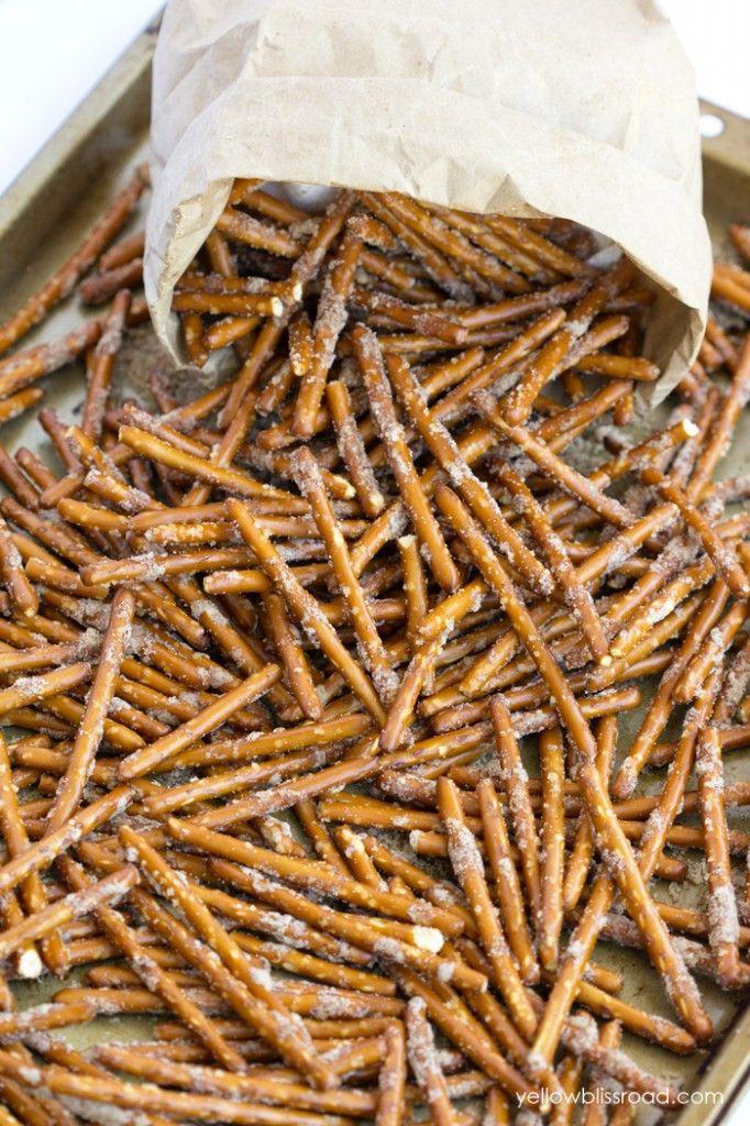 Cinnamon Sugar Pretzel Sticks | Recipe | Pretzel sticks ...