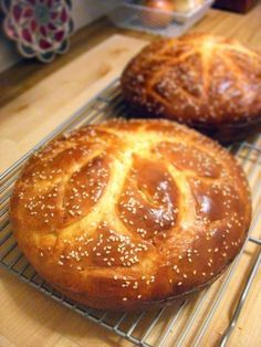 Vasilopita- A sweet, orangey, delicious bread traditionally served on New Year's day. A coin is hidden inside and whoever gets it has good luck for the year.
