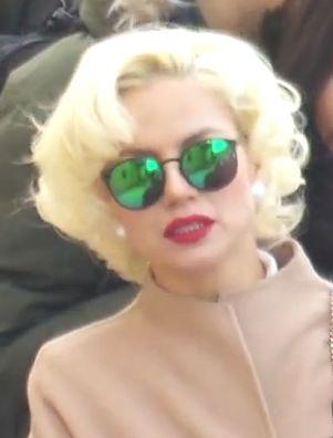 Sunglasses. #blonde #marilyn Share video from Stockholm Fashion Week: http://www.youtube.com/watch?v=6NZOc9DeHXk #hmda H&M Design Award winner 2014 #hm