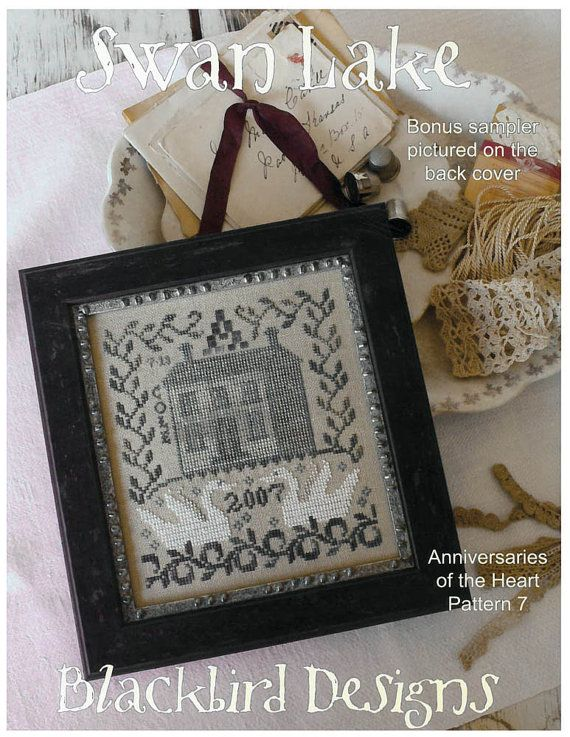 Swan Lake Cross Stitch Sampler Pattern by by LettersGreatandSmall
