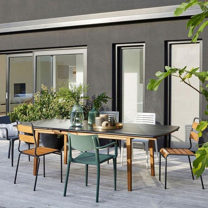 Lot De 2 Chaises De Jardin Juragley Bois Metal La Redoute Interieurs La Redoute En 2020 Decoration Terrasse Table De Jardin Idee Deco Jardin