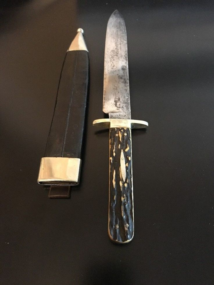 Joseph Rodgers Amp Sons Bowie Knife Stag Sheffield Antique