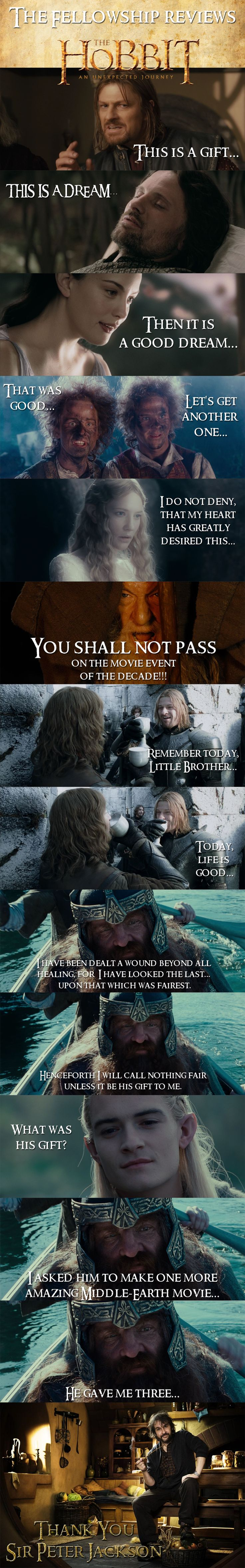 That one with Gimli is TOO perfect! This couldn't be more accurate. Thank you Peter Jackson and the entire team that put the films together.