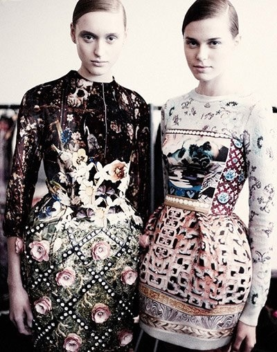Pattern Fashion.... Mixed Prints and Textured Surfaces - dresses by Mary Katrantzou