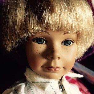 """Heidi Ott doll, 11"""" boy doll, vinyl and cloth"""