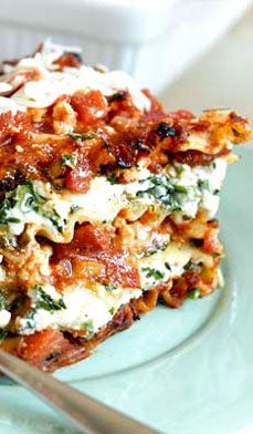 Low-Fat Lasagna - I like to eat the leftovers reheated for lunch the next day.