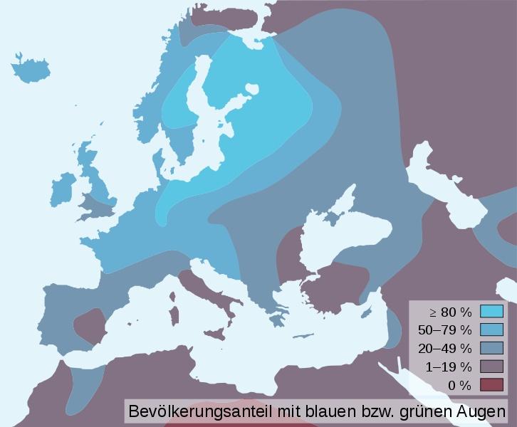 Distribution of blue eye Science Archeaology Pinterest