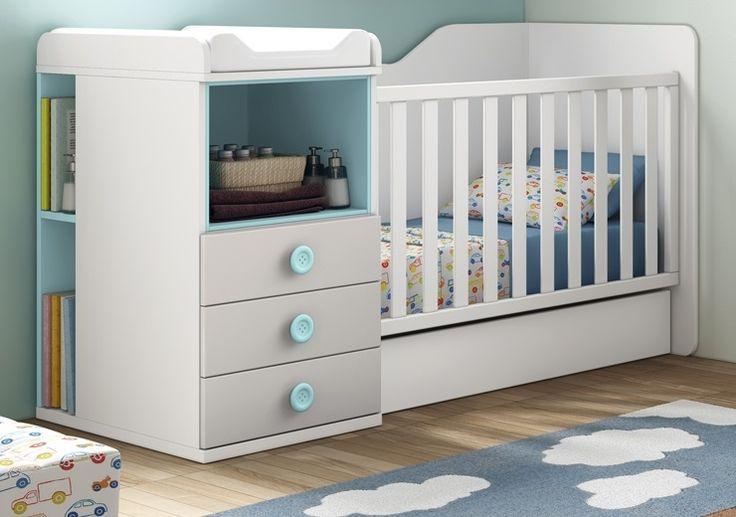 Le berceau LOUMEO est un lit évolutif : il devient un lit pour enfant 90x190 cm avec une table de nuit