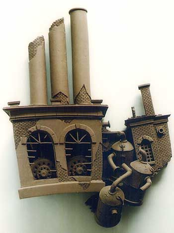 Substation - Buildings - Gallery - John Brickels, Architectural Sculpture and Claymobiles, Essex Jct, Vermont