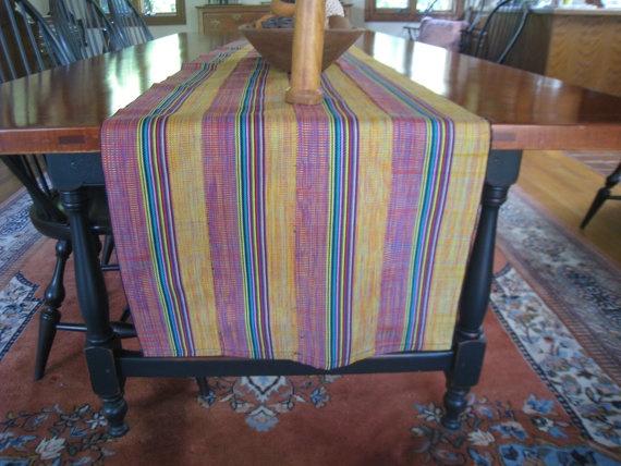 Kente Table Runner. $25.00, via Etsy.