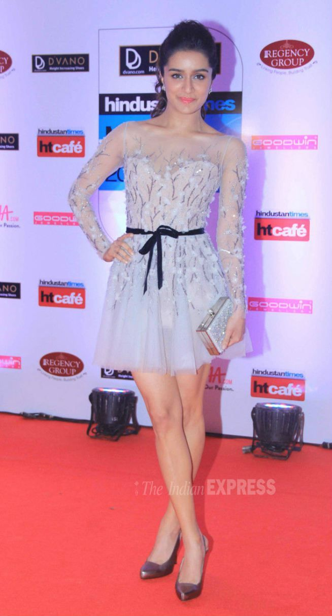 Shraddha Kapoor at the HT Style Awards 2015.