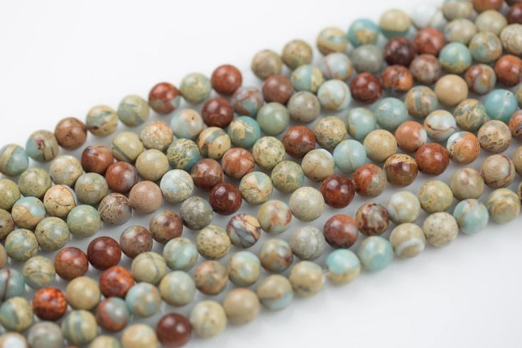 Natural African Opal Sea Sediment Jasper Beads Smooth Round Sizes 4mm 6mm 8mm 10mm 12mm In Full 15 5 Inch Strand Wholesale Pricing Jasper Beads Opal Sediment