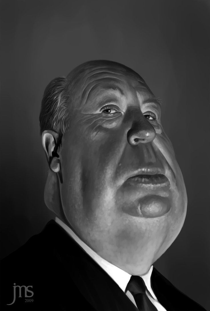 ☆ Alfred Hitchcock Caricature :: Artist Javier Martinez Sanchez ☆