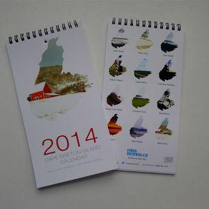 Image of 2014 Cape Breton Island Calendar - Red Barn