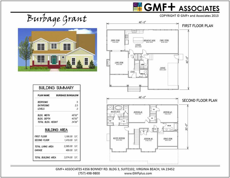 The BURBAGE Bungalow Is A Two Story Arts And Crafts Style Four Bedroom Plus Bonus Room Under 2600 SF Total This House Plan Has Spacious Second Floor