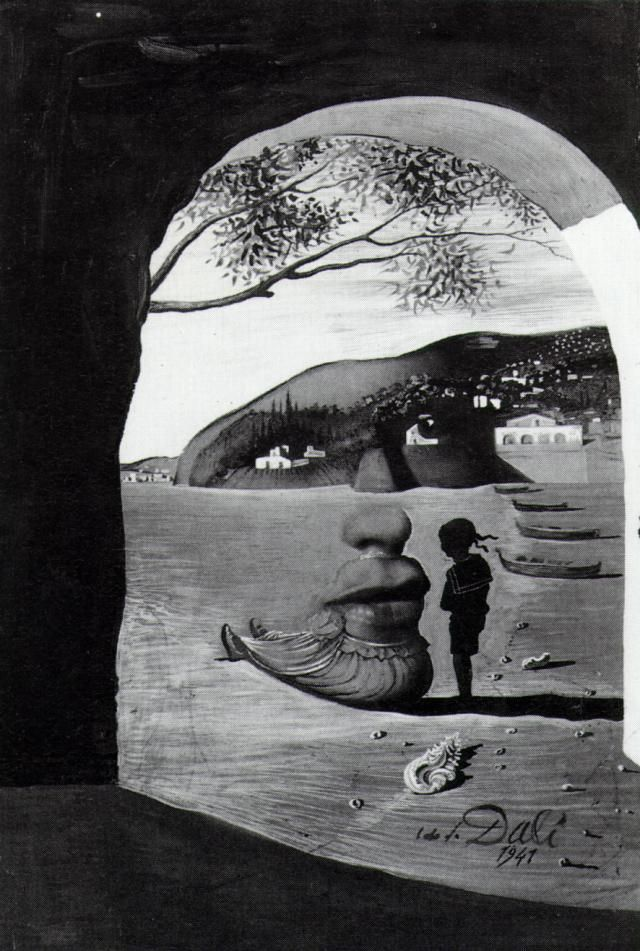 Mysterious Mouth Appearing in the Back of My Nurse - Salvador Dali (1941)