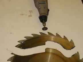 How to Make a knife from a 10 inch table saw blade