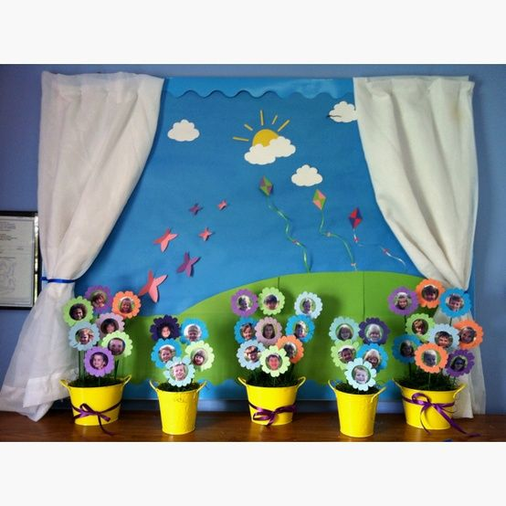Spring bulletin board | April crafts, Spring bulletin ...