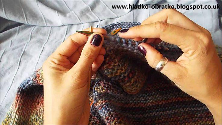 Ako štrikovať sveter vcelku  - 5.časť - Golier