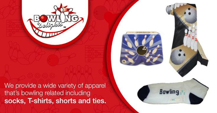 We provide a wide variety of apparel that's bowling related including socks, T-shirts, shorts and ties.  #bowling #gifts #products #giftbasket #chocolates #frames #toys #games #novelties #party #high-quality #delivery #giveaway #BowlingDelights #shopping #deals #sale
