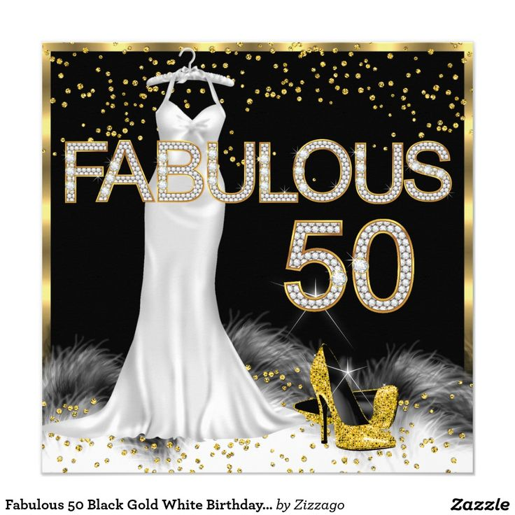 Happy 50th Birthday Black And Gold 15 Best Images About Fabulous Party On