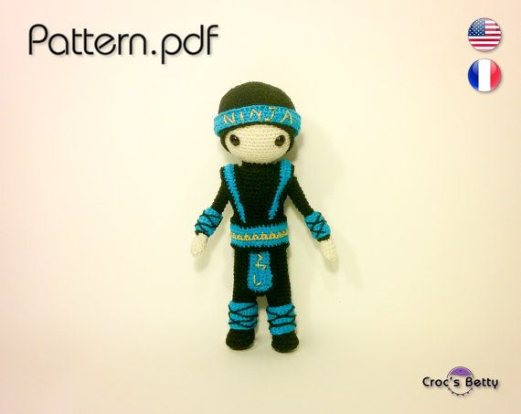 Pattern  Craquotin little Ninja by CrocsBetty on Etsy