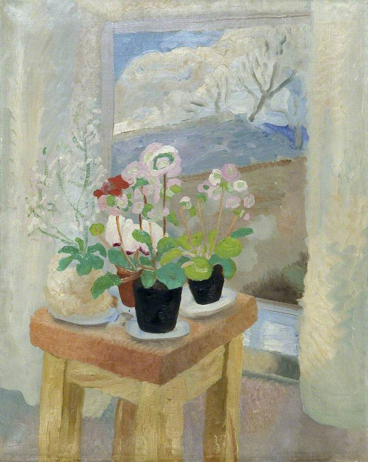 winifred nicholson(1893–1981), still life by a window, c.1927. oil on canvas, 88.9 x 71.1 cm. brighton and hove museums and art galleries, uk http://www.bbc.co.uk/arts/yourpaintings/paintings/still-life-by-a-window-75314